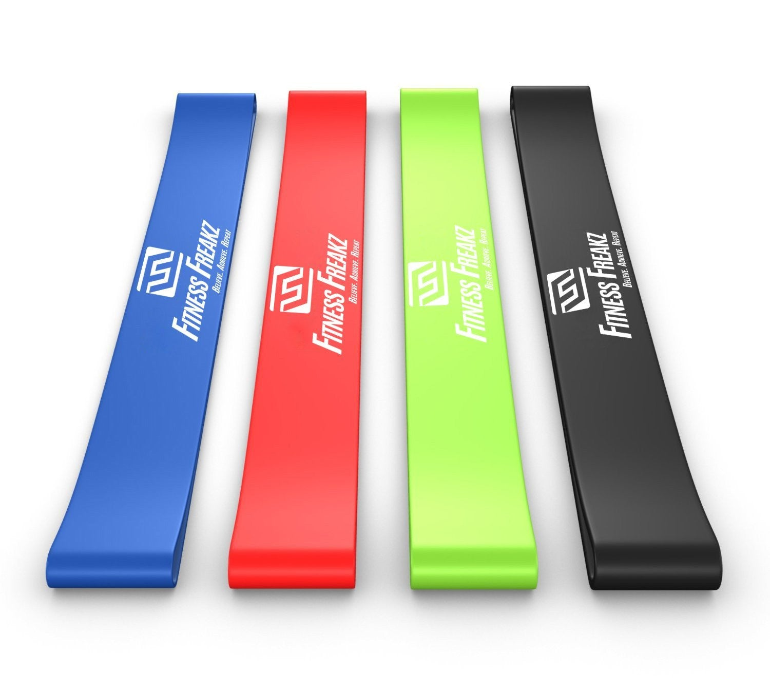 Resistance Loop Bands - Set of 4 Premium Exercise Bands - Smash Terminator - 1