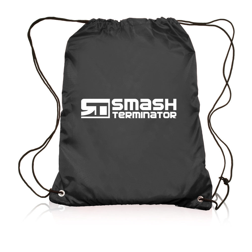 Drawstring Sports Bag (Black) - Smash Terminator - 1