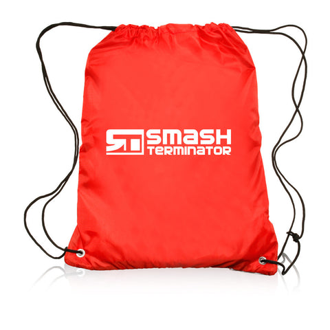 Drawstring Sports Bag (Red) - Smash Terminator - 1
