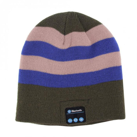 Bluetooth Beanie Hat (Oatmeal/Blue) - Smash Terminator