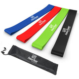 Resistance Loop Bands - Set of 4 Premium Exercise Bands - Smash Terminator - 3