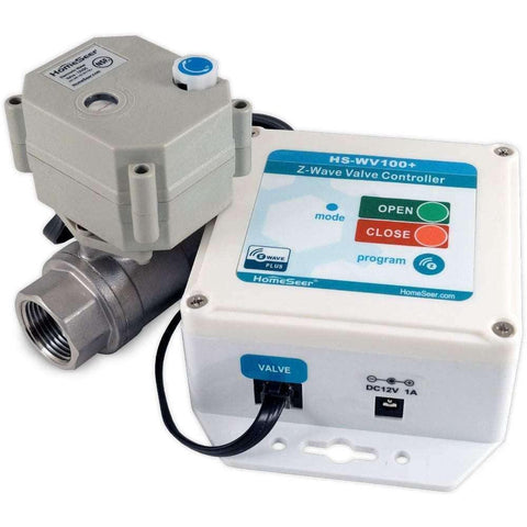 "HomeSeer HS-WV100+ Z-Wave Plus 3/4"" Water Valve Controller:HomeSeer Store"