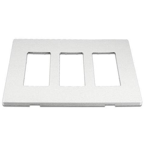 Cooper 9523WS White 3-Gang Screwless Wall Plate