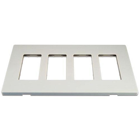 Cooper 9524WS White 4-Gang Screwless Wall Plate