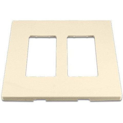 Cooper 9522DS Desert Sand (Almond) 2-Gang Screwless Wall Plate