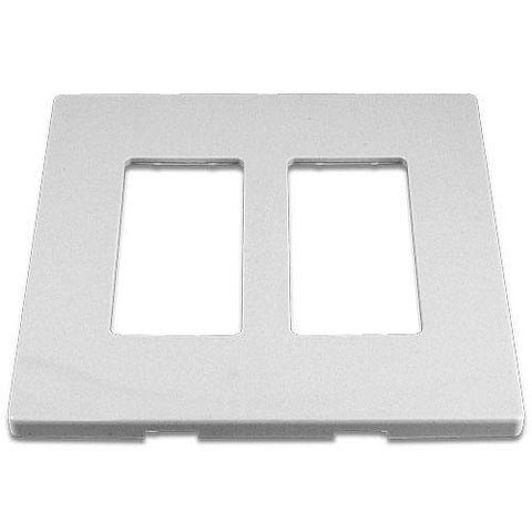 Cooper 9522WS White 2-Gang Screwless Wall Plate