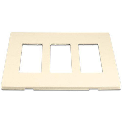 Cooper 9523DS Desert Sand (Almond) 3-Gang Screwless Wall Plate