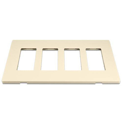 Cooper 9524DS Desert Sand (Almond) 4-Gang Screwless Wall Plate
