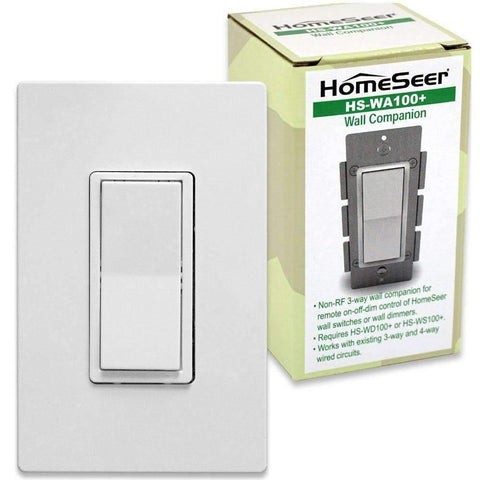 HomeSeer HS-WA100+ Wired 3-way Companion Switch for HomeSeer Dimmers & Switches - OPEN BOX