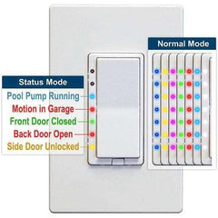 HomeSeer HS-WD200+ Z-Wave Plus Scene Capable RGB Wall Dimmer - USED:HomeSeer Store