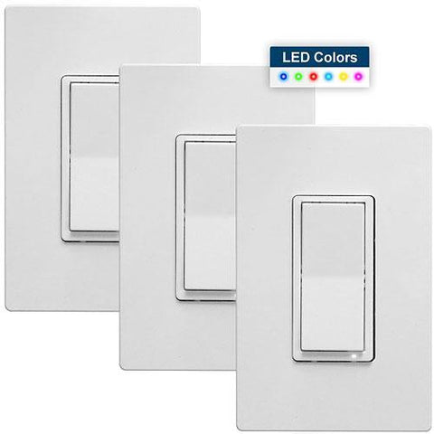 HomeSeer HS-WS200+ Z-Wave Plus RGB Wall Switch 3-Pack