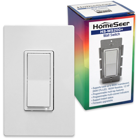 HomeSeer HS-WS200+ Z-Wave Plus Scene-Capable RGB Smart Switch, Works with Alexa