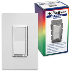 HomeSeer HS-WS200+ Z-Wave Plus Scene-Capable RGB Smart Switch, Works with Alexa - HomeSeer