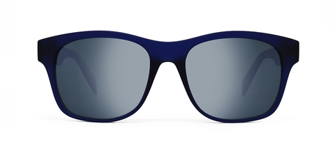 Aer Blue with Mirrored Lenses