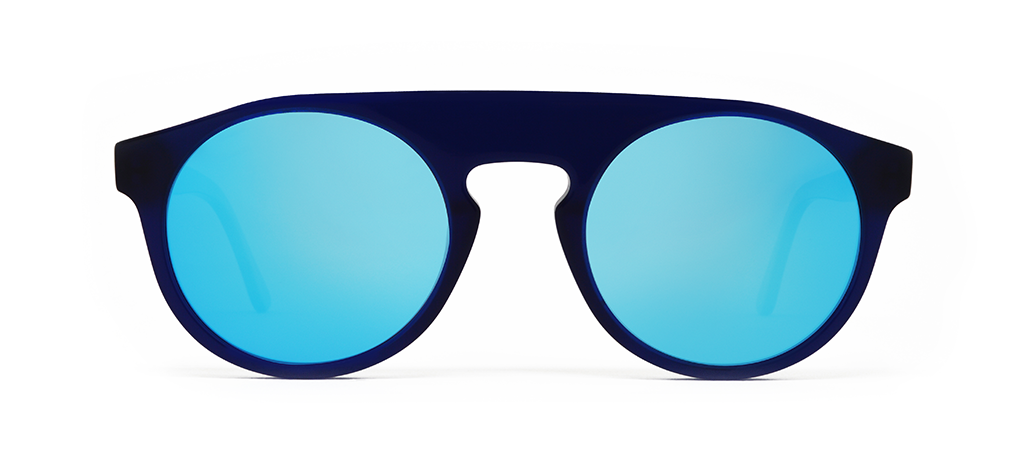 Atom Blue with Blue Mirrored Lenses