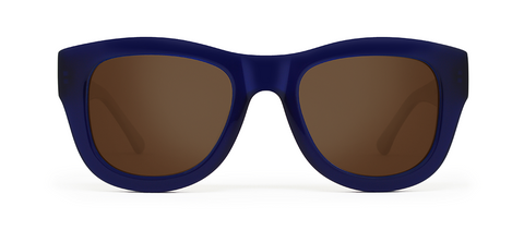 Blaze Blue with Brown Lenses