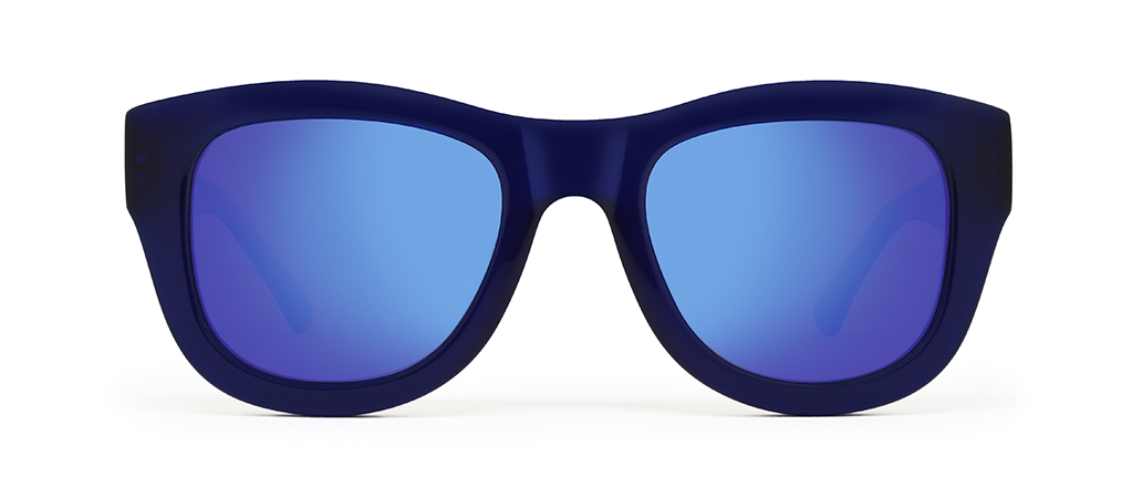Blaze Blue with Blue Mirrored Lenses