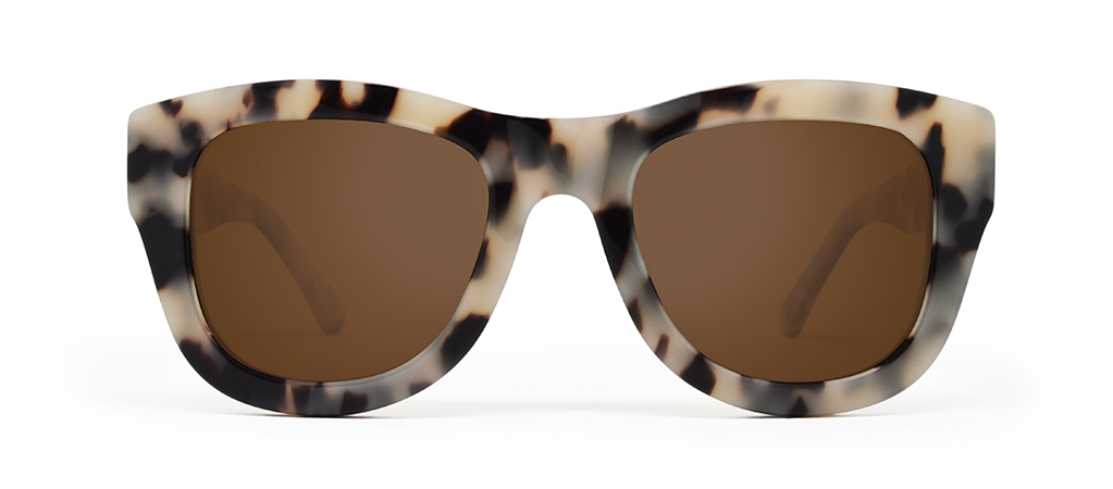 Blaze Crème Tortoise with Brown Lenses
