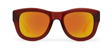 Blaze Red with Red Mirrored Lenses