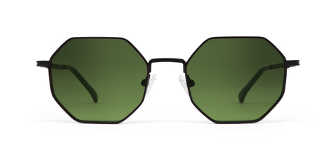 Gamma Black with Green Lenses