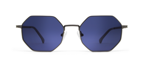 Gamma Gun Metal with Blue Lenses