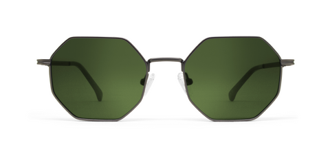 Gamma Gun Metal with Green Lenses