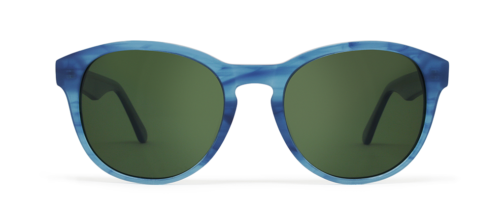 Gravity X Blue Tortoise with Green Lenses