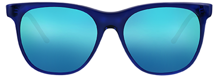 Grit Blue with Blue Mirrored Lenses