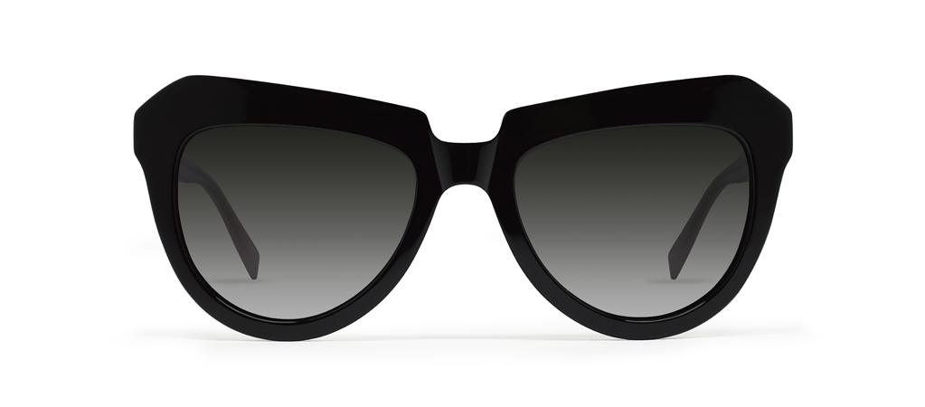 Iota Black Shiny with Black Gradient Lenses