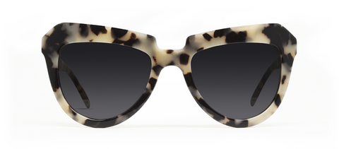 Iota Creme Tortoise with Black Lenses