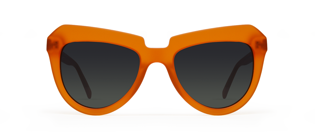 Iota Orange with Black Lenses