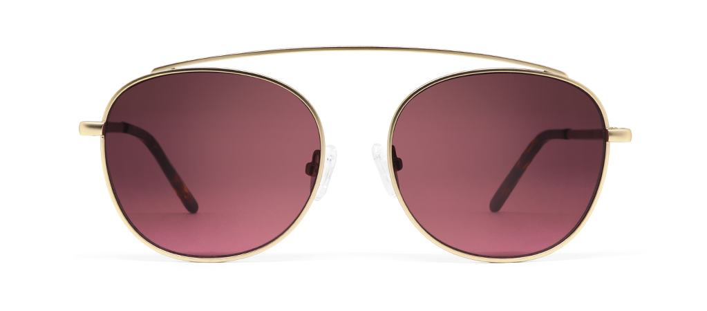 Omega Gold with Pink Lenses