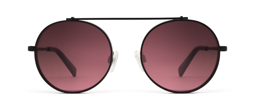 Omikron Black with Pink Lenses