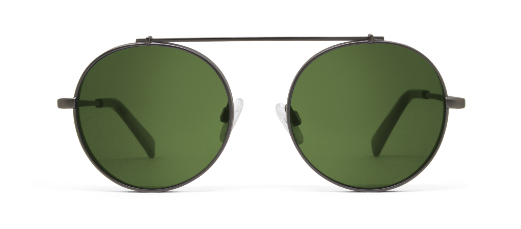 Omikron Gun Metal with Green Lenses