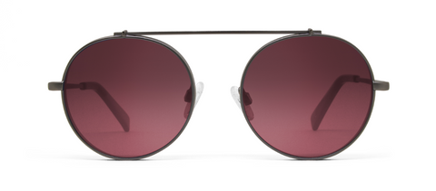 Omikron Gun Metal with Pink Lenses