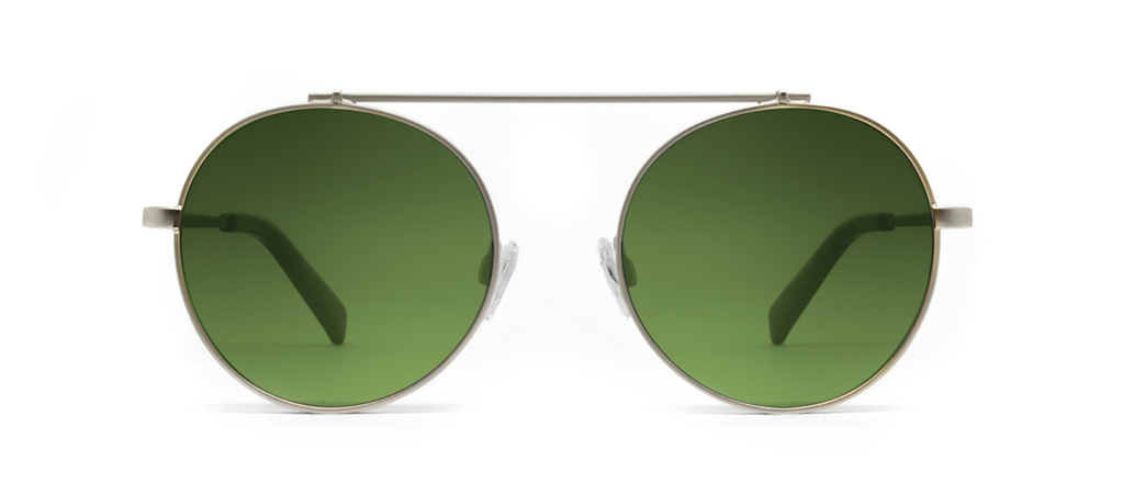 Omikron Silver with Green Lenses