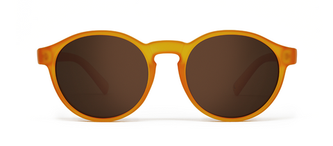 Orbit Orange with Brown Lenses
