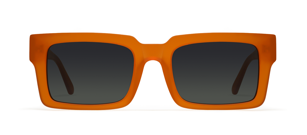 Qubit Orange with Black Lenses