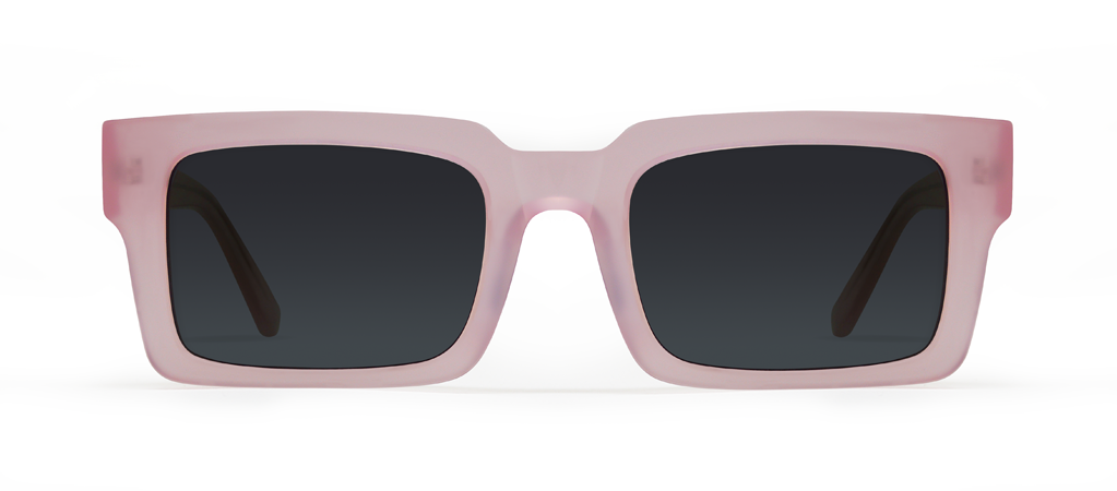 Qubit Pink with Black Lenses