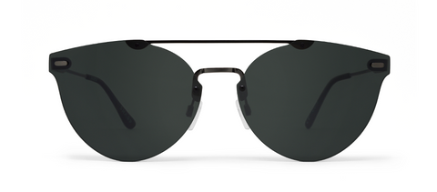 Sharp Gun Metal with Silver Mirrored Lenses