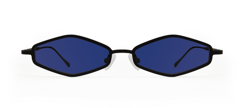 Theta 2.0 Black with Blue Lenses