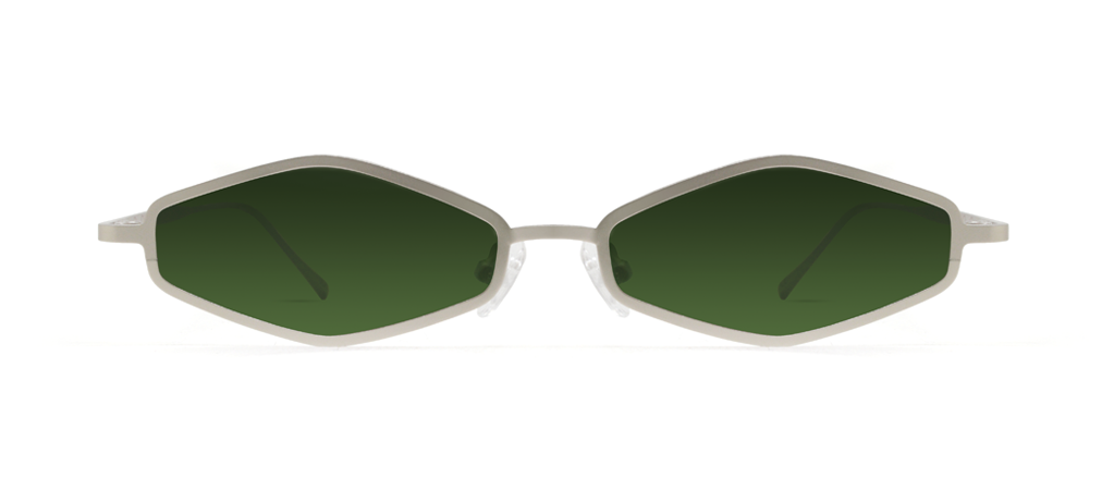 Theta 2.0 Silver with Green Lenses