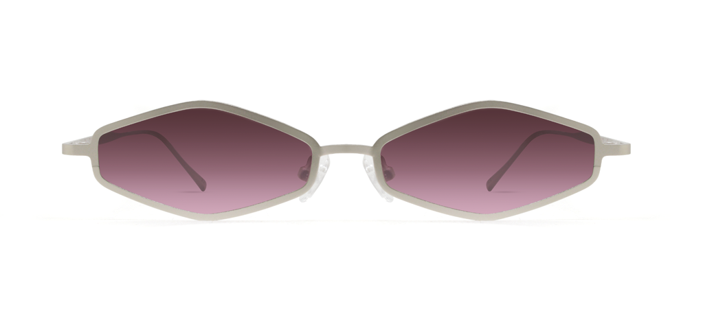 Theta 2.0 Silver with Pink Lenses