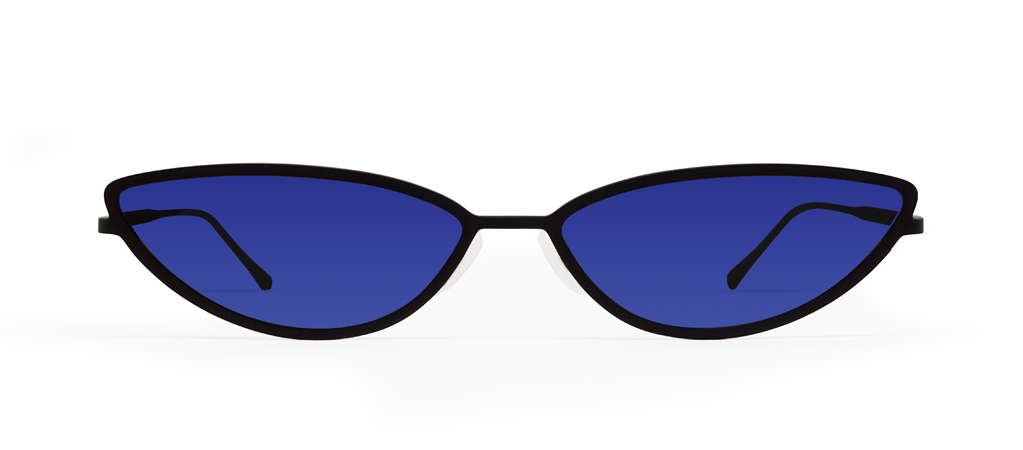TAF 2.0 Black with Blue Lenses