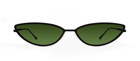 TAF 2.0 Black with Green Lenses