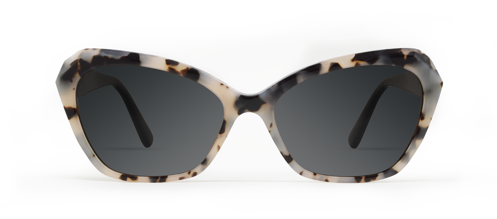 Zeta Creme Tortoise with Black Lenses