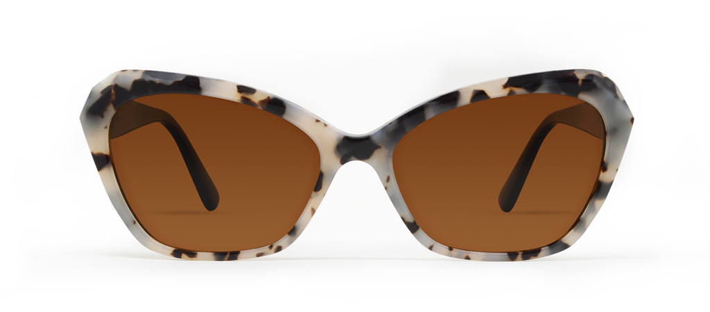 Zeta Creme Tortoise with Brown Lenses