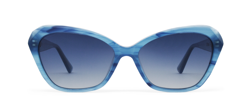 Zeta Blue Tortoise with Blue Lenses