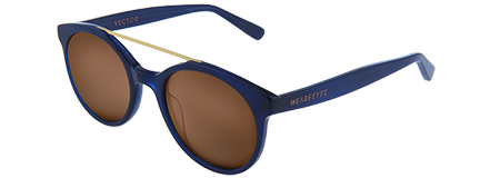 Vector Blue with Brown Lenses