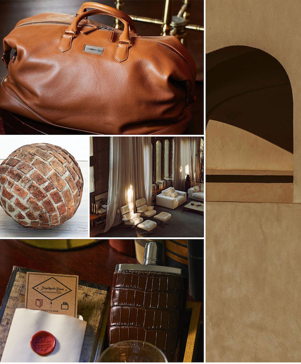 Mood Board Volume .04 Collage of architecture and leather